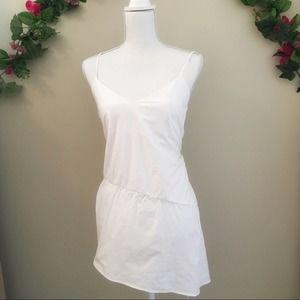 Zara White Long Blouse Size S